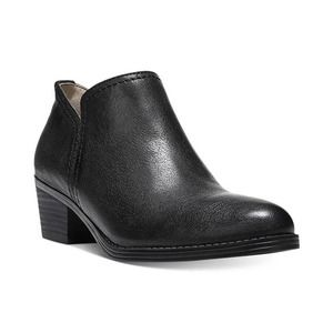 NEW Naturalizer Zarie Black Pebbled Leather Bootie
